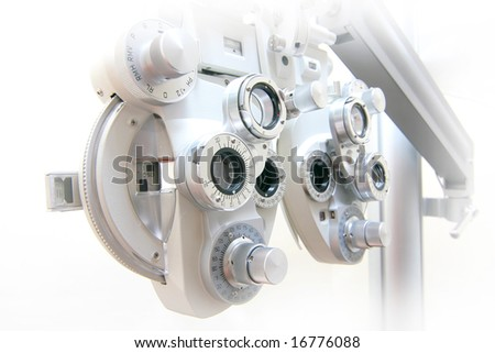 device to the sight testing - stock photo
