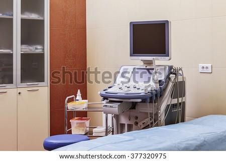 Device ultrasound.  - stock photo