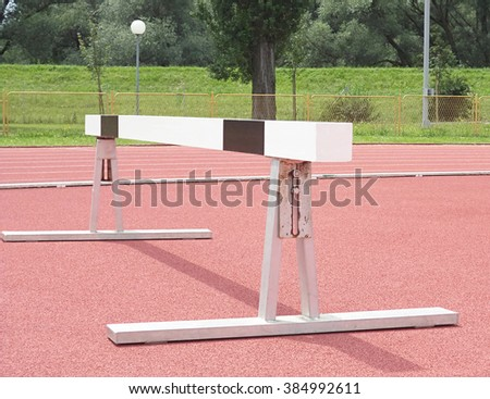 devices for the long jump, athletics                  - stock photo