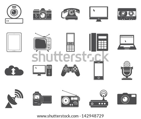 Devices icons. Vector version also available in my portfolio. - stock photo
