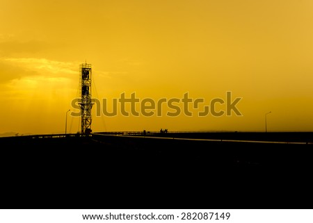 Devices meteorological station silhouette - stock photo