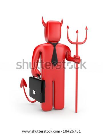 Devil businessman. May be boss :) - stock photo
