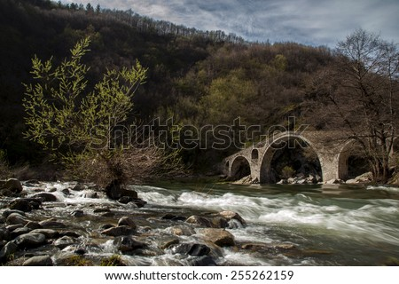 Devil's Bridge is famous bridge in Bulgaria near Ardino Town.