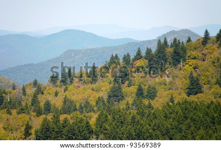Devil's Courthouse overlook view - stock photo