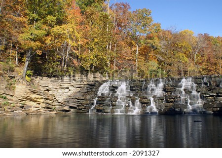 Devil's Den Waterfall Arkansas - stock photo