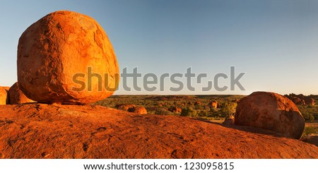 Devil's Marbles at sunset, Northern Territory, Australia