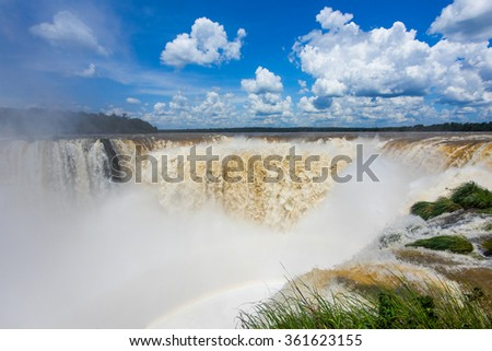 Devil's Throat at Iguazu Falls, on the border of Argentina and Brazil.