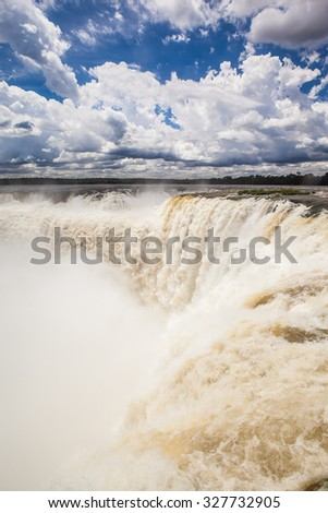 Devil's Throat at Iguazu National Park, World Natural Heritage Site by UNESCO