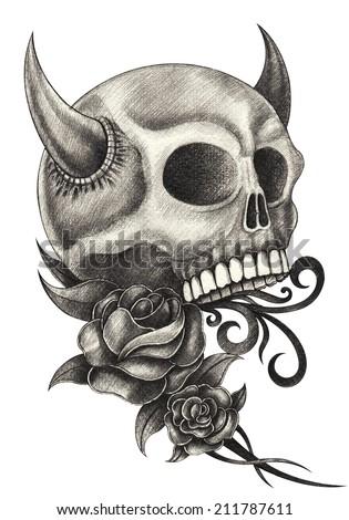 Skull scorpion stock illustration 21614404 shutterstock - Dessin de demon ...