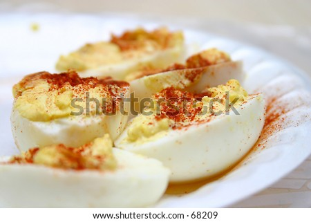 Deviled Eggs - stock photo