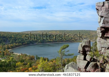Devils Lake in the Fall in Devils Lake State Park near Baraboo, Wisconsin