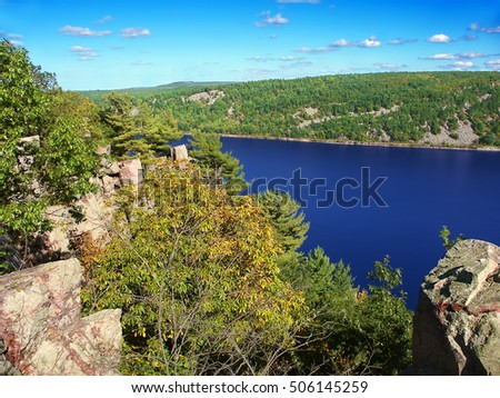 Devils Lake State Park is a popular hiking and rock climbing destination in Wisconsin