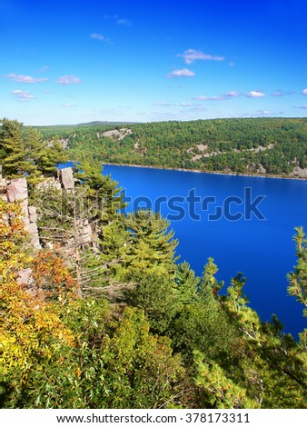 Devils Lake State Park is located near Wisconsin Dells - stock photo