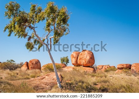 Devils Marbles, Northern Territory, Australia - stock photo