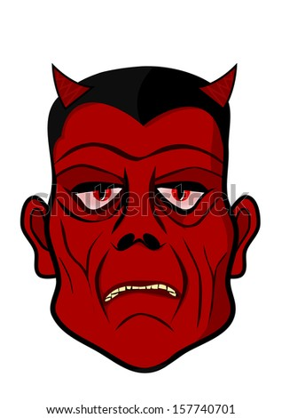 Devils´s head - stock photo