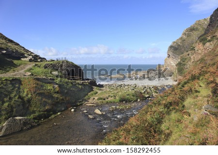 Devon Coast of England - stock photo
