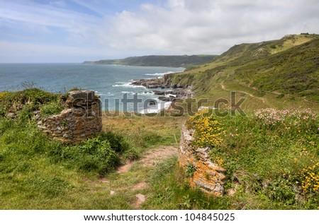 Devon Coastline, England - stock photo