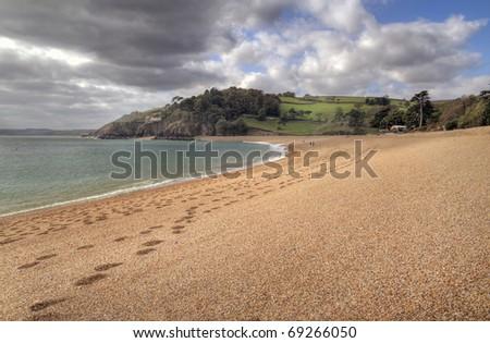 Devonshire beach, England - stock photo
