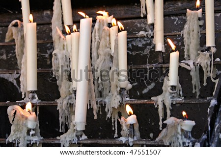 devotional candles - stock photo
