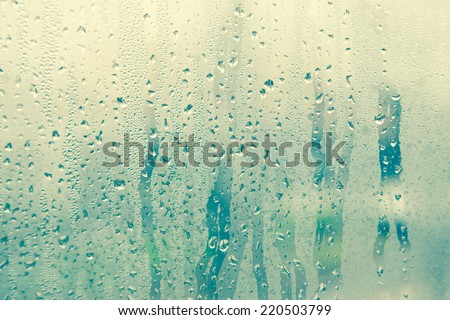 dew drop on glass - stock photo