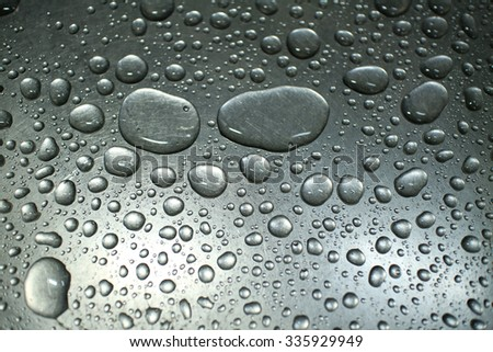 dew drops on the sink - stock photo