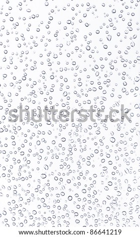 Dew of water on the white background - stock photo
