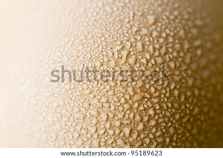 Dew On Egg - stock photo