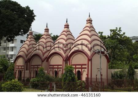 Dhakeswari Temple in Dhaka in Bangladesh - stock photo