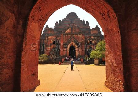 Dhammayangyi Temple in Bagan , Myanmar - stock photo
