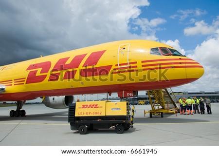 DHL cargo aircraft - stock photo