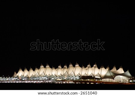 DIA at night - stock photo