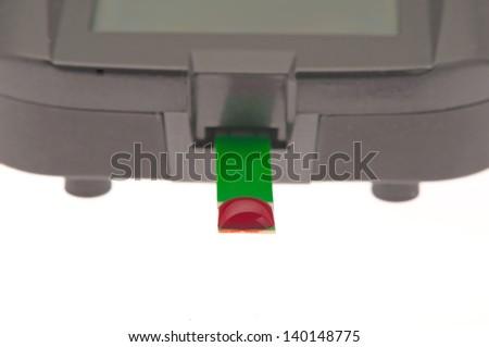diabetes blood glucose testing meter - stock photo