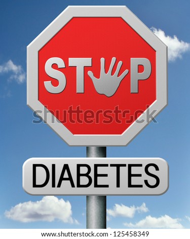 diabetes find causes  and sceen for symptoms of type 1 or 2 prevention by dieting or treath with medication - stock photo