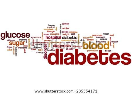 Diabetes word cloud concept - stock photo