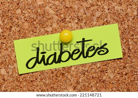diabetes word on notepaper - stock photo