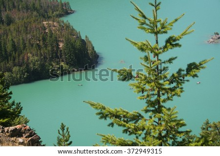 Diablo lake in Washington State.