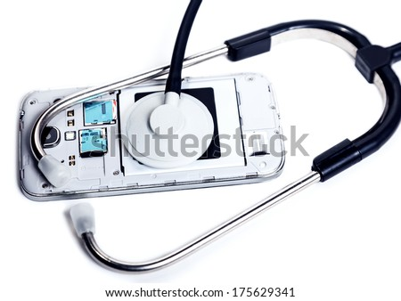 Diagnosis and service electronics, abstract background - stock photo