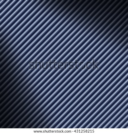 Diagonal blue tube background texture lit dramatically - stock photo