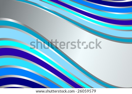 Diagonal gentle retro blue  stripes  background. Raster. A vector variant look in my portfolio - stock photo