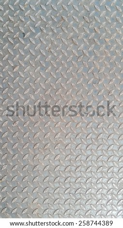 diagonal pattern on gray metal texture of metal plate sheet - stock photo