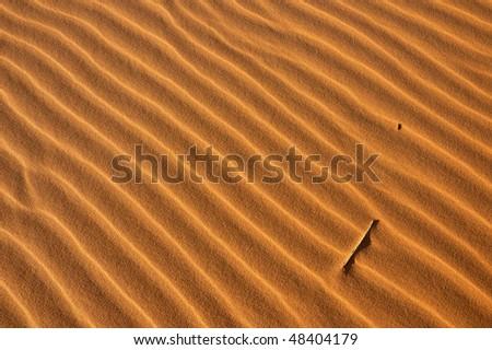 Diagonal pattern on the sand - stock photo