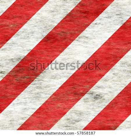 diagonal red and white stripes roughed up and grungy. tiles seamlessly - stock photo