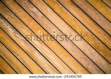 Diagonal wood board for background - stock photo