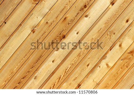 Diagonal wooden siding background - stock photo
