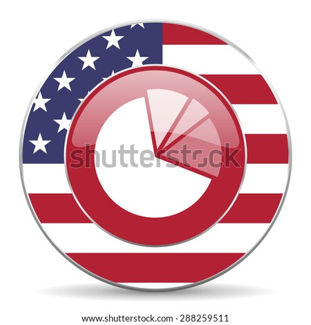 diagram american icon original modern design for web and mobile app on white background  - stock photo