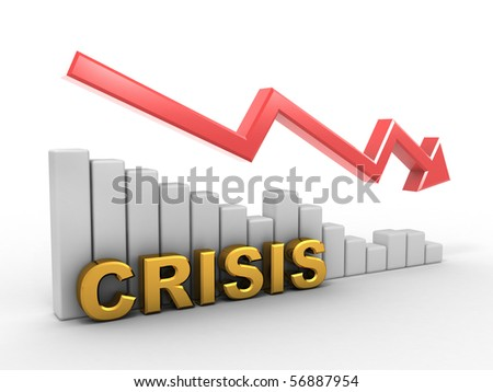 Diagram. Crisis. 3d - stock photo