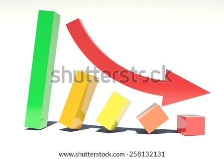 Diagram Down - stock photo