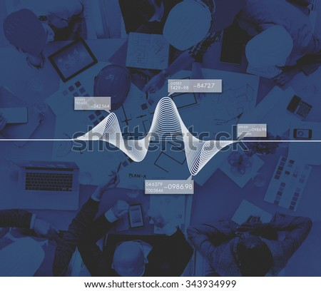Diagram Graphs Information Statistics Stock Data Concept - stock photo