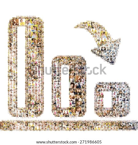 Diagram icon. Isolated, collage - stock photo