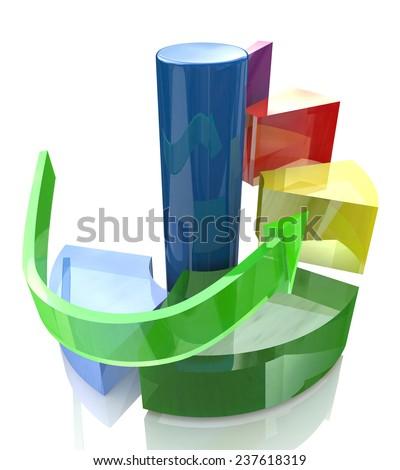 Diagram levels, action steps concept  - stock photo